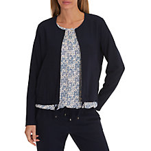 Buy Betty & Co. Fine Crepe Bomber Jacket, Mood Blue Online at johnlewis.com