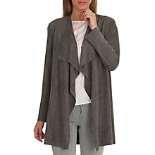 Buy Betty Barclay Faux Suede Waterfall Jacket, Smoked Pearl Online at johnlewis.com