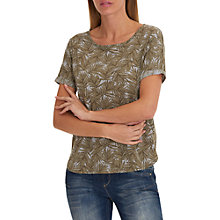 Buy Betty & Co. Short Sleeved Print Top, Aloe Green Online at johnlewis.com