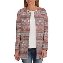 Buy Betty Barclay Striped Tapestry Coat, Blue/Red Online at johnlewis.com