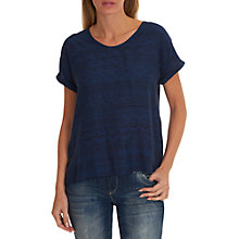 Buy Betty & Co. Short Sleeve Printed T-Shirt, Blue Online at johnlewis.com