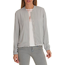 Buy Betty & Co. Crepe Bomber Jacket, Silver Sconce Online at johnlewis.com