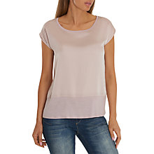 Buy Betty & Co. Satin And Jersey Top, Rose Cream Online at johnlewis.com