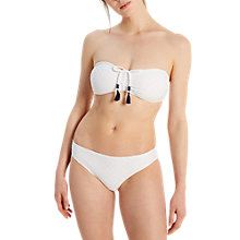 Buy White Stuff Island Textured Bikini Bottoms, Black Online at johnlewis.com