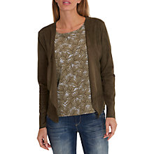 Buy Betty & Co. Faux Suede Jacket, Aloe Green Online at johnlewis.com