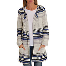 Buy Betty Barclay Striped Cardigan, White/Classic Blue Online at johnlewis.com