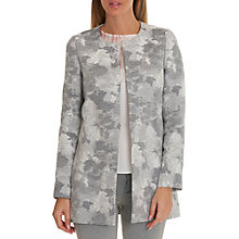 Buy Betty & Co. Tapestry Weave Coat, Grey/White Online at johnlewis.com