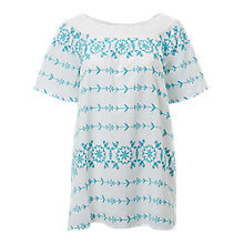 Buy White Stuff Effie Bardot Tunic Top, Green Online at johnlewis.com