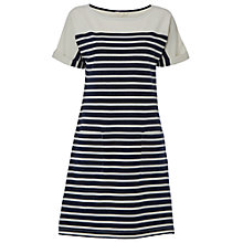 Buy White Stuff Kora Stripe T-Shirt Dress, Blue/Multi Online at johnlewis.com