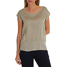 Buy Betty & Co. Satin And Jersey Top, Light Green Online at johnlewis.com