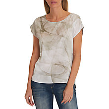 Buy Betty & Co. Oversized Print Top, Grey/Green Online at johnlewis.com