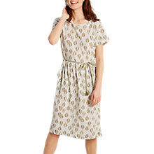 Buy White Stuff Indian Leaf Jersey Dress, Natural Online at johnlewis.com