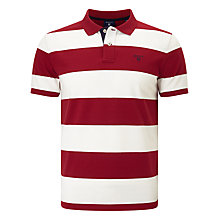 Buy Gant Contrast Collar Barstripe Pique Polo Shirt Online at johnlewis.com
