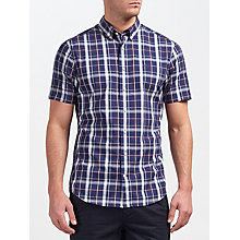 Buy Gant Tech Prep Chambray Large Check Short Sleeve Shirt Online at johnlewis.com
