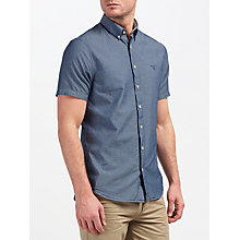 Buy Gant Chambray Short Sleeve Shirt, Indigo Online at johnlewis.com