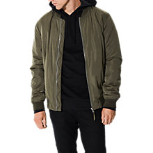 Buy Selected Homme Felix Bomber, Dusty Olive Online at johnlewis.com