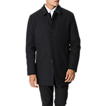 Buy Selected Homme New Mash Pea Coat, Dark Grey Melange Online at johnlewis.com