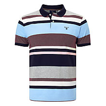 Buy Gant Multi Stripe Oxford Polo Shirt, Evening Blue Online at johnlewis.com