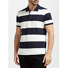 Buy Gant Contrast Collar Barstripe Polo Shirt, Evening Blue Online at johnlewis.com