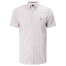 Buy Gant Oxford Check Short Sleeve Shirt Online at johnlewis.com