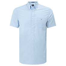 Buy Gant Broadcloth Stripe Short Sleeve Shirt Online at johnlewis.com