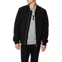 Buy Selected Homme Felix Bomber Jacket, Black/Navy/Chilli Pepper Online at johnlewis.com