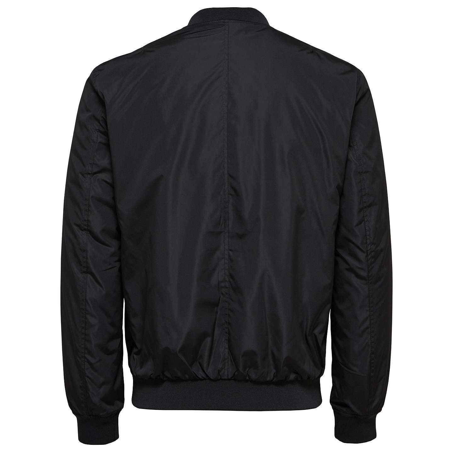 BuySelected Homme Felix Bomber Jacket, Black/Navy/Chilli Pepper, S Online at johnlewis.com