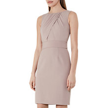 Buy Reiss Benoit Fitted Day Dress, Ash Online at johnlewis.com