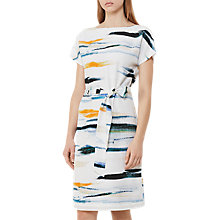 Buy Reiss Alba Print Shift Dress, Blue/Multi Online at johnlewis.com