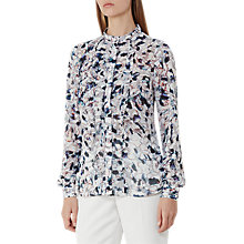 Buy Reiss Louisa Floral Printed Shirt, Multi Pink Online at johnlewis.com