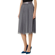 Buy Reiss Crystal Tulle Midi Skirt, Chalk Online at johnlewis.com