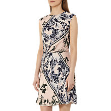 Buy Reiss Celia Heritage Floral Print Silk Dress, Pink/Blue Online at johnlewis.com