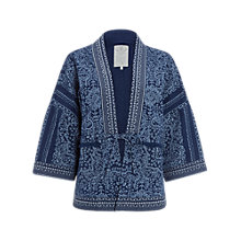 Buy White Stuff Selvedge Stitch Kimono, Multi Blue Online at johnlewis.com
