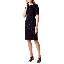 Buy Hobbs Julia Shift Dress, Navy/Red Online at johnlewis.com