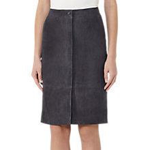 Buy Reiss Bea Suede Pencil Skirt, Steel Blue Online at johnlewis.com