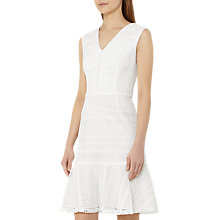 Buy Reiss Alice Lace Fit Dress, Off White Online at johnlewis.com