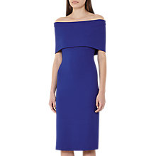Buy Reiss Rafferty Off the Shoulder Dress, Peacock Blue Online at johnlewis.com