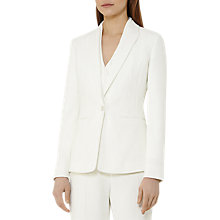 Buy Reiss Myla Textured Blazer, Off White Online at johnlewis.com