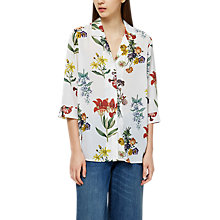 Buy Selected Femme Dixie Floral Print Top, Snow White Online at johnlewis.com