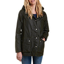 Buy Barbour Headland Waxed Jacket, Fern Online at johnlewis.com