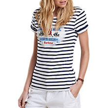 Buy Barbour Blakeney Stripe Jersey T-Shirt, French Navy Online at johnlewis.com