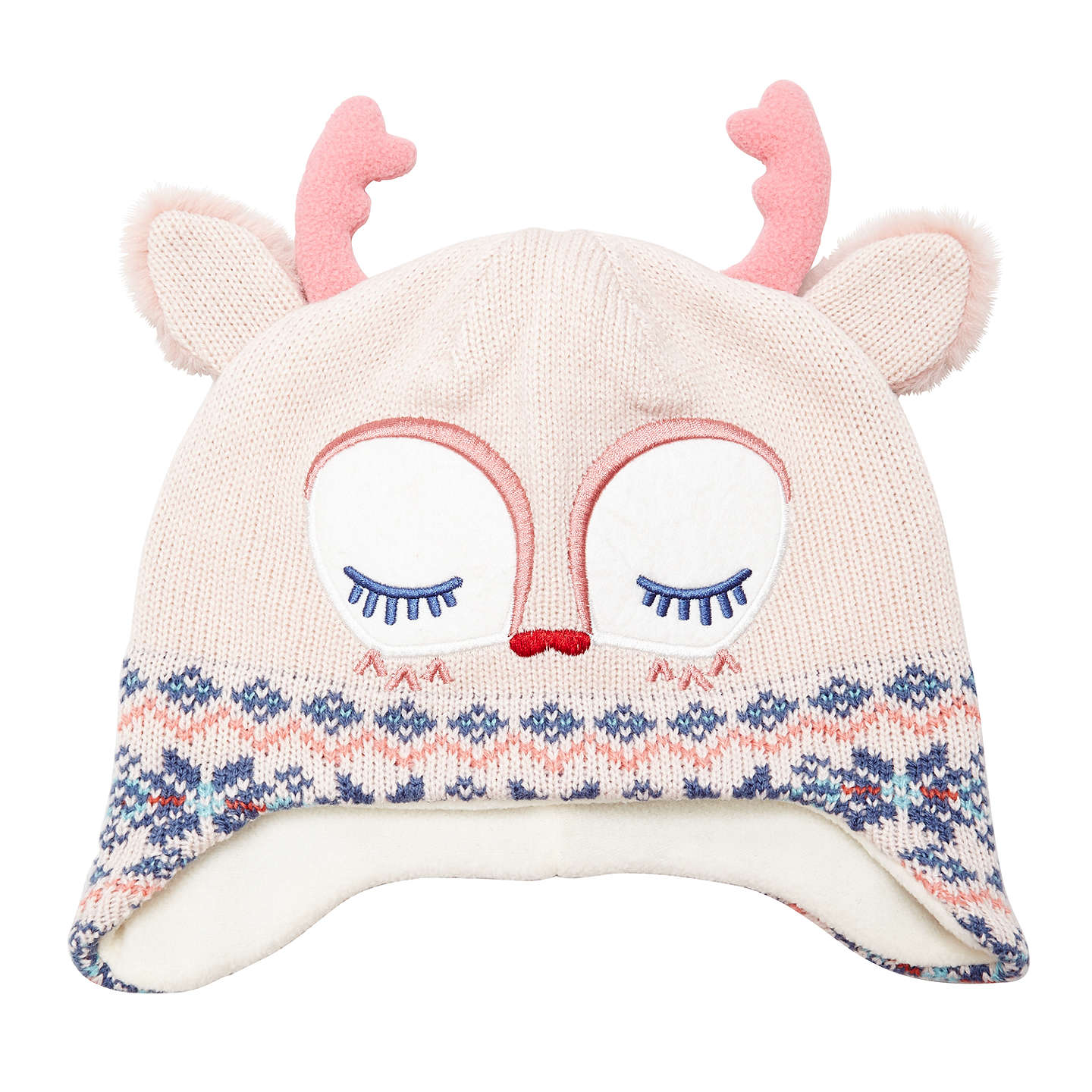 Buyjohn Lewis Childrens Novelty Fawn Christmas Hat, Creampink, S Online