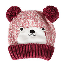 Buy John Lewis Children's Novelty Bear Hat, Brown Online at johnlewis.com