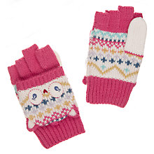 Buy John Lewis Children's Novelty Own Flip Gloves, Pink Online at johnlewis.com