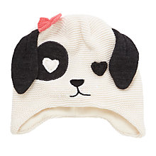 Buy John Lewis Children's Novelty Dalmatian Trapper Hat, Black/White Online at johnlewis.com