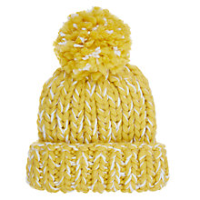 Buy John Lewis Children's Chunky Bold Twist Beanie, Yellow Online at johnlewis.com