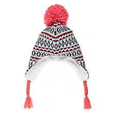 Buy John Lewis Children's Geometric Fair Isle Trapper Hat, Multi Online at johnlewis.com