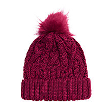 Buy John Lewis Children's Faux Fur Pom Beanie Hat Online at johnlewis.com