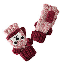 Buy John Lewis Children's Novelty Bear Flip Gloves, Brown Online at johnlewis.com