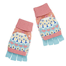 Buy John Lewis Children's Pretty Fair Isle Flip Gloves, Multi Online at johnlewis.com